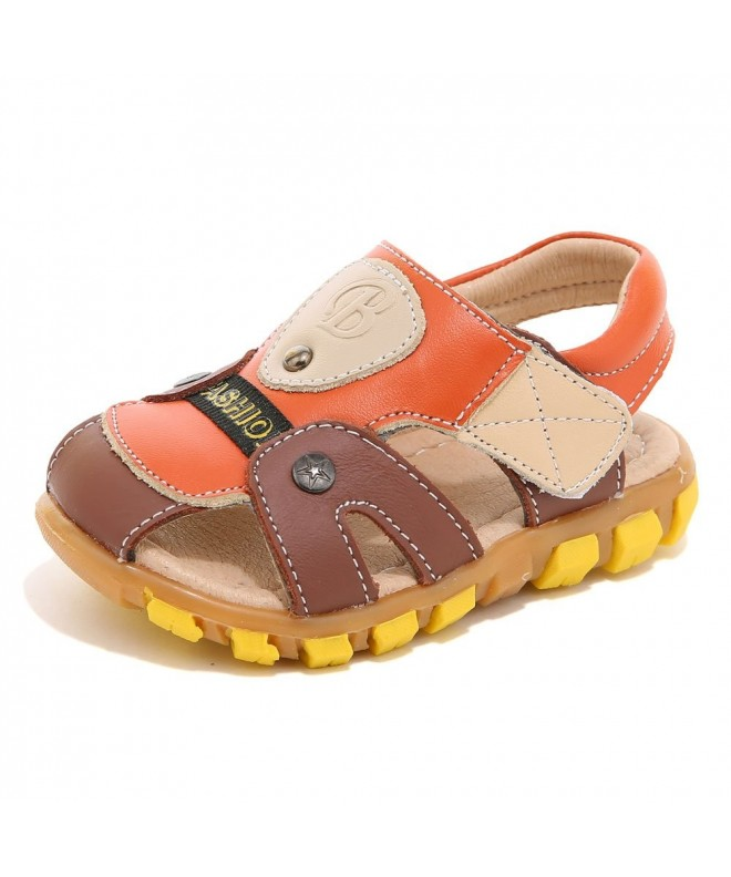 HOBIBEAR Toddler Sandals Closed Leather