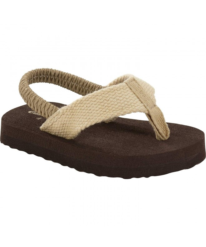 Garanimals Infant Boys Thong Sandal Beige /& Brown