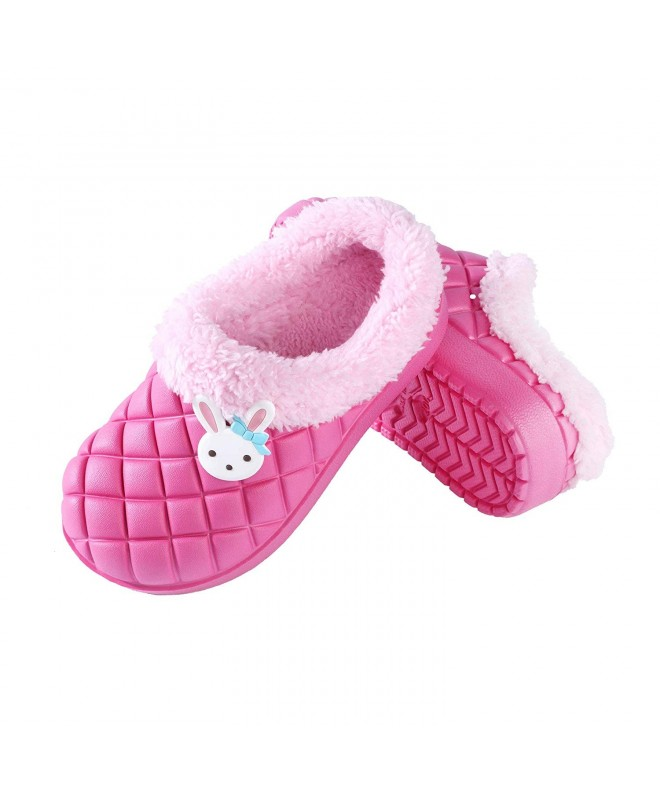 Kids Cute House Slippers|Warm and Soft Bedroom Slippers|Slip on House Shoes  for Boys and Girls - Pink - C518IMUGO7R