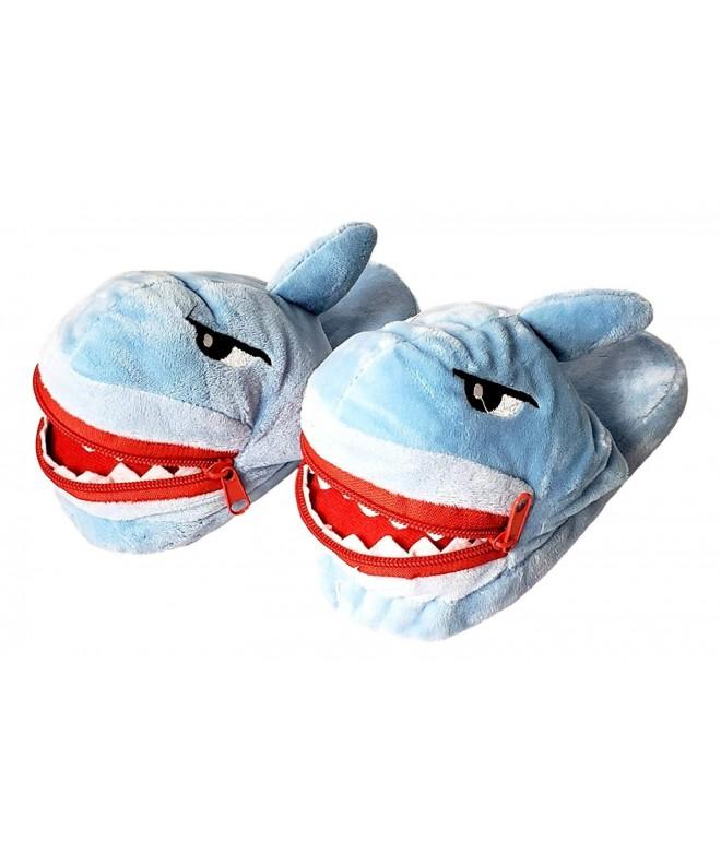 Children Plush Novelty Shark Slipper