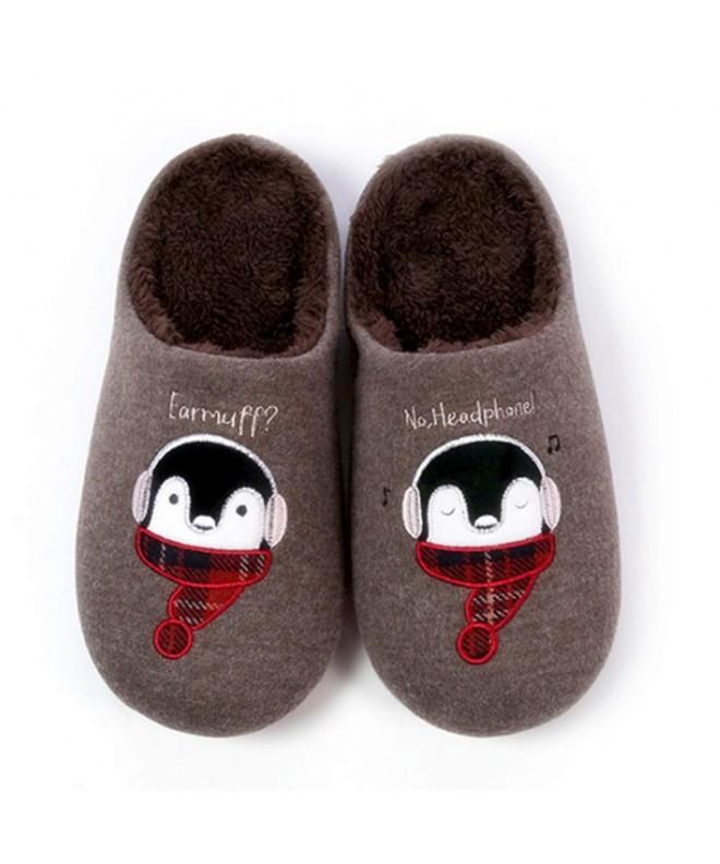 Toddler Boys Girls Slippers Fluffy Little Kids House Slippers Warm Fur Cute  Animal Home Slipper - Brown - C718IC70SL3