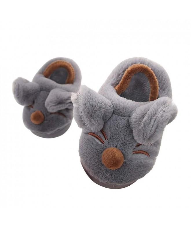 Toddler Slippers Cartoon Fleece Elastic