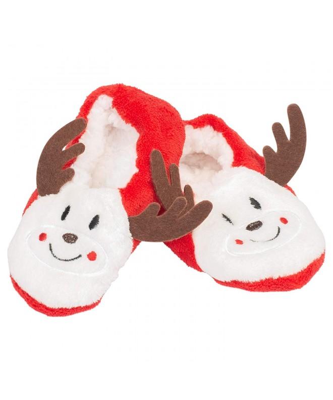 Reindeer Footies Polyester Christmas Slippers