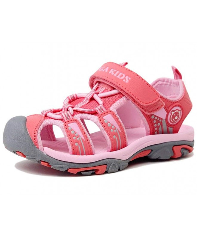 DADAWEN Outdoor Closed Toe Sandals Toddler