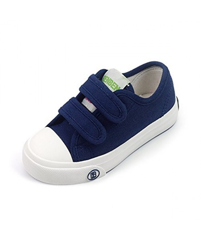 8cfac7856a7 Kids Toddler Canvas Sneakers Boys Girls Classic Adjustable Strap Fashion  Loafers School Shoes - A-navy - CJ18EX08SOR