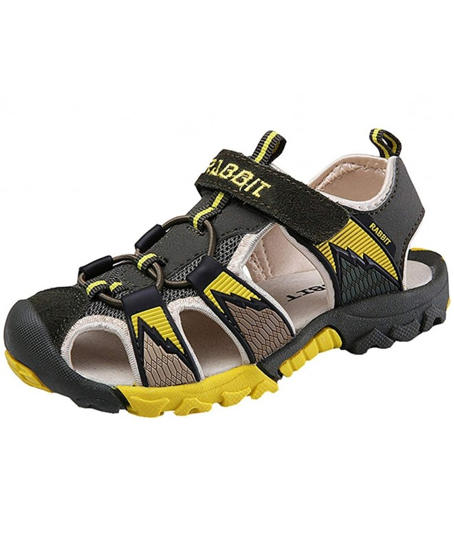 DADAWEN Breathable Athletic Closed Toe Sandals