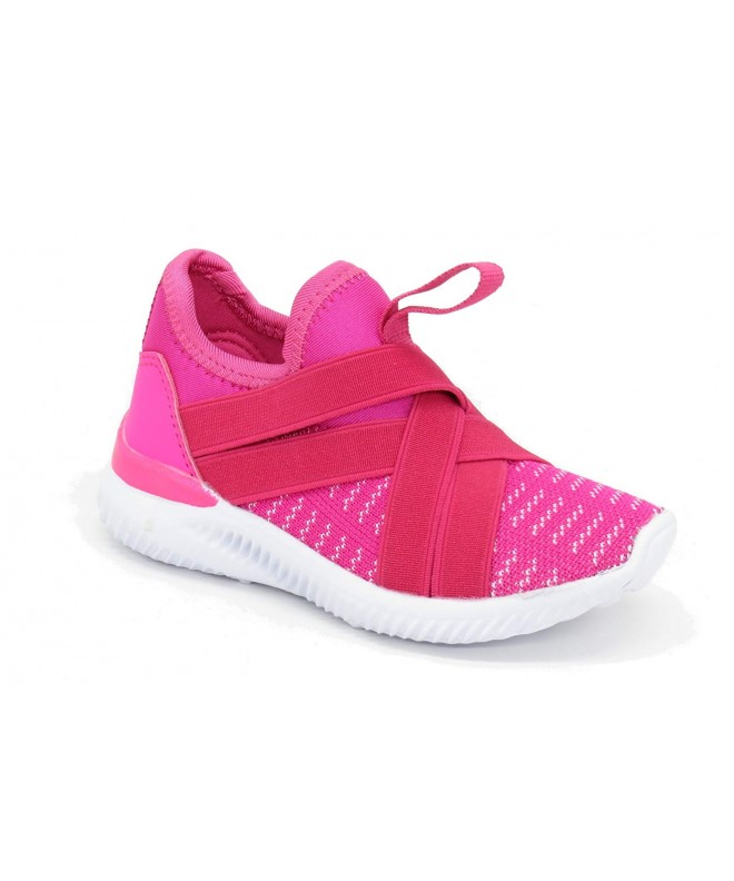 54c7254b9eb Children and Kids Breathable Fashion Sneakers Casual Slip-On Loafers  Athletic Sports Shoes - Fuchsia-36 - CV188U7TM5C