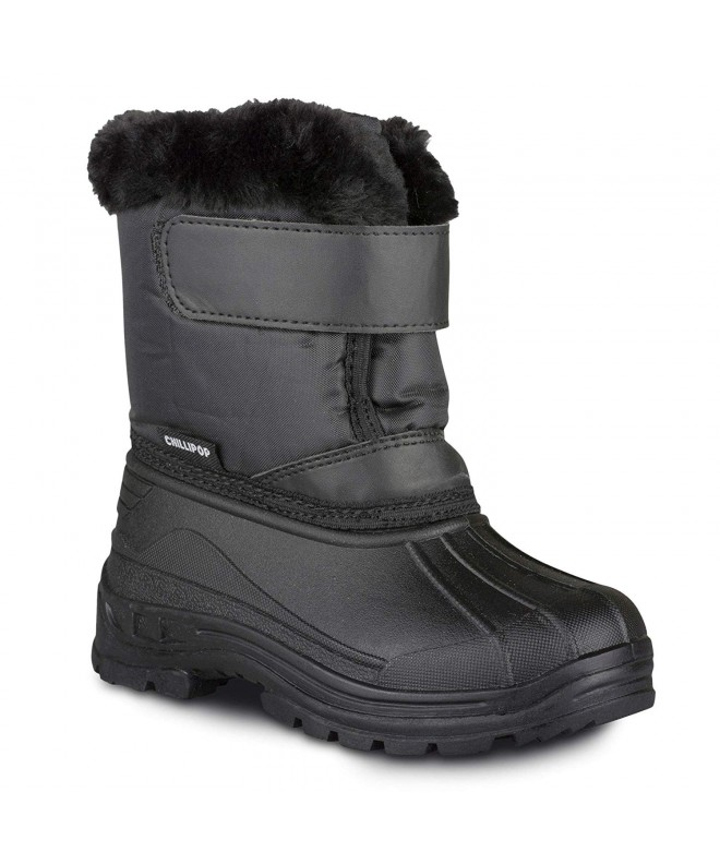 Colored Insulated Snow Boots for Boys , Girls , Little Kids , Black (V2) ,  CS1853KYGC5