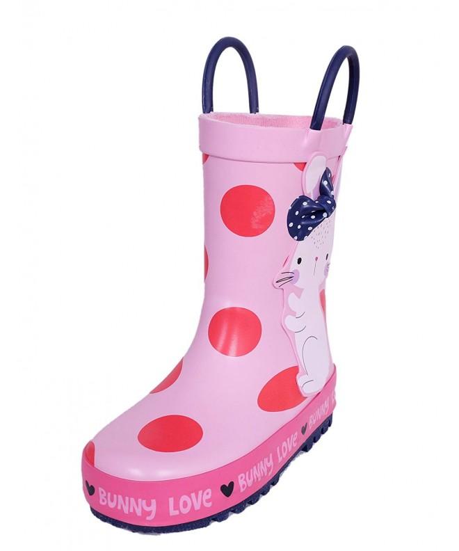 Kids Rainboots Handles Toddler Girls