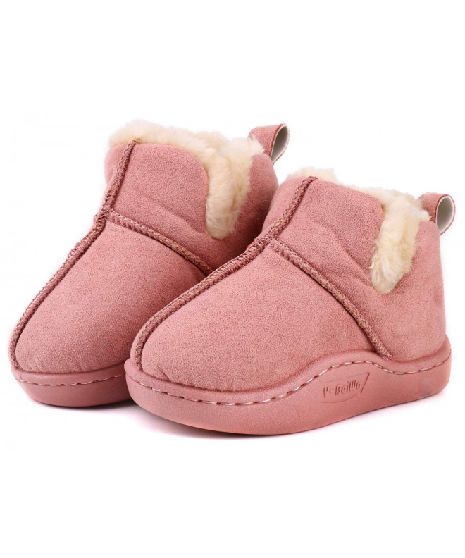 LONSOEN Toddler Lining Booties Loafers