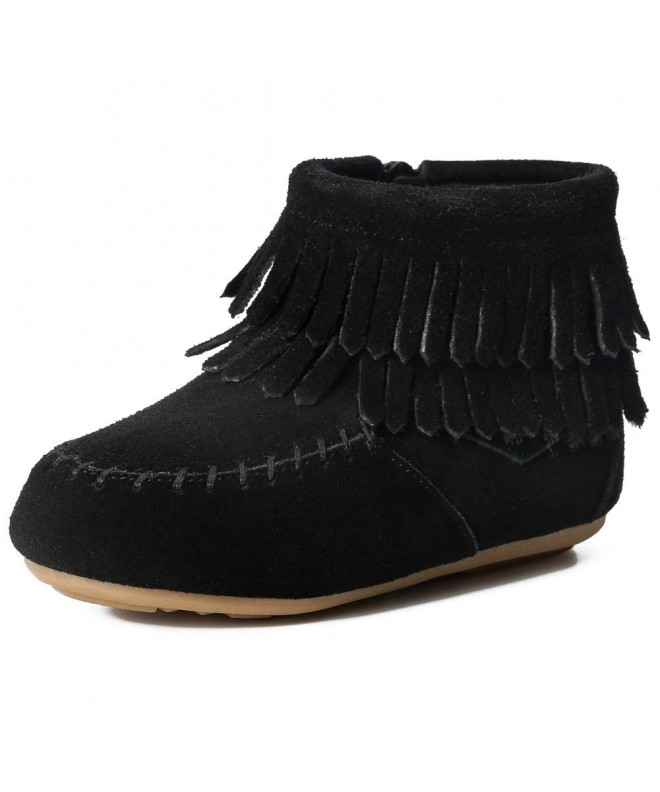 Toddler Suede Leather Double Fringe
