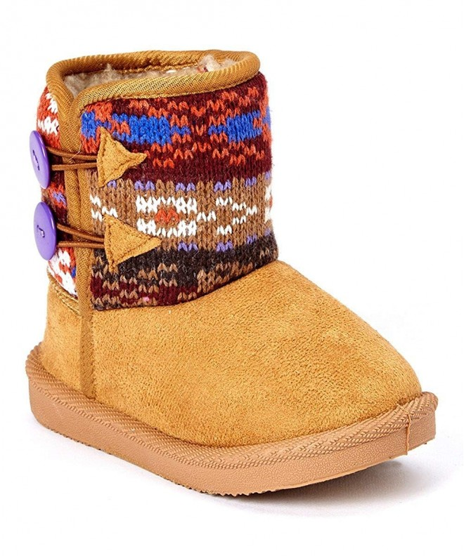 Madness Girls Winter Boots Button