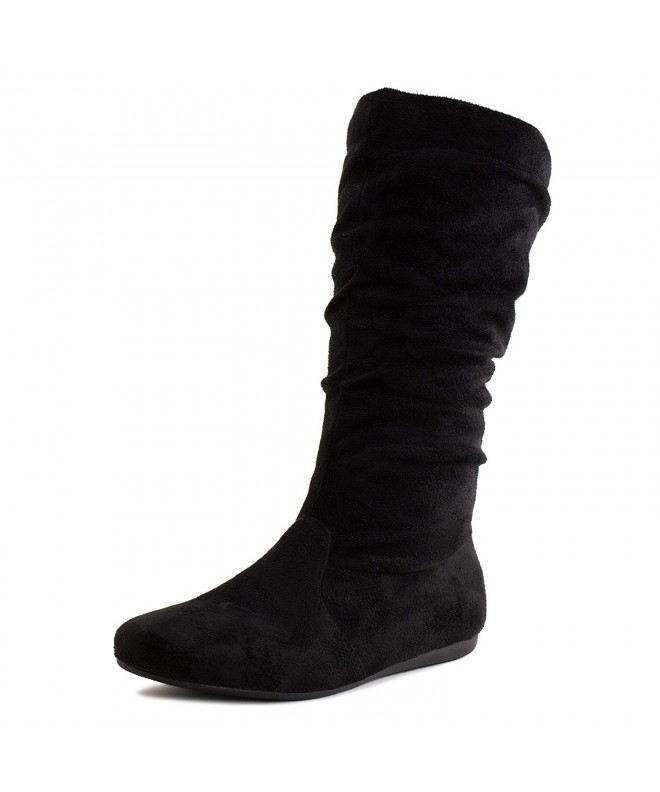 girls black suede boots