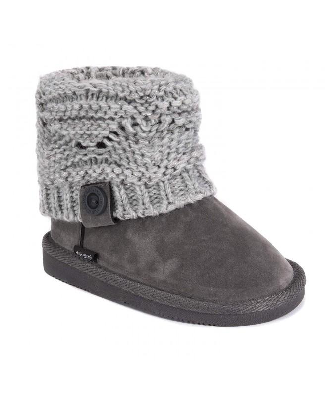 MUK LUKS Girls Boots Grey Fashion
