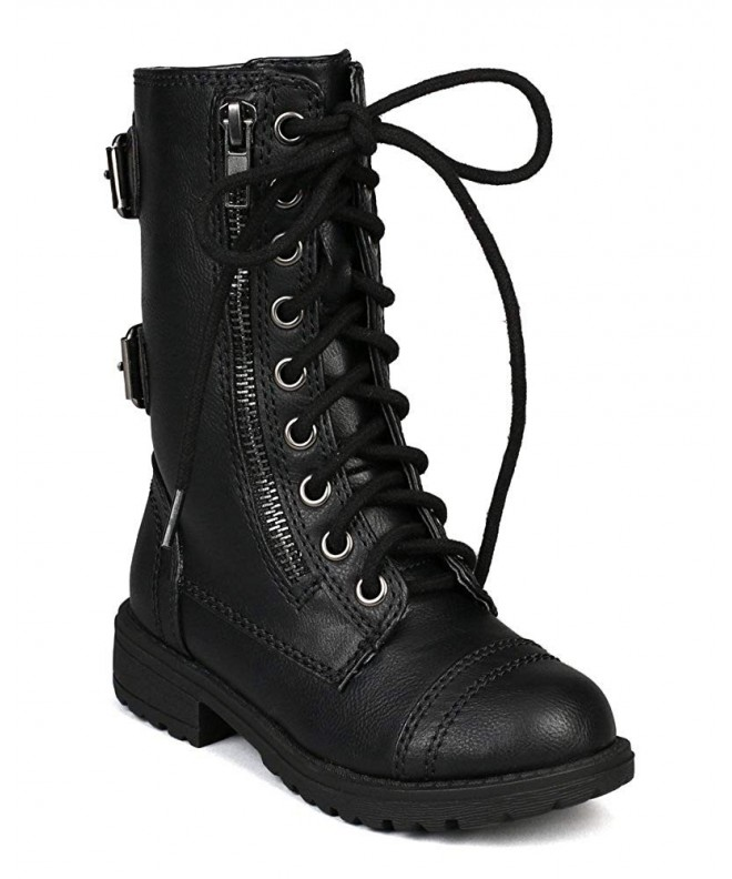 Girls Dome 2S Military Combat Boots