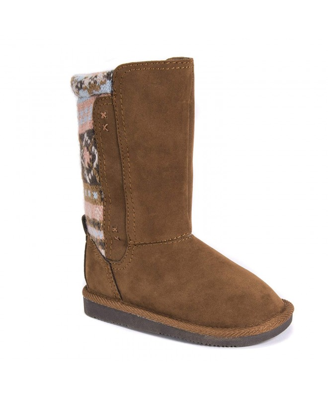 MUK LUKS Girls Boots Brown Fashion