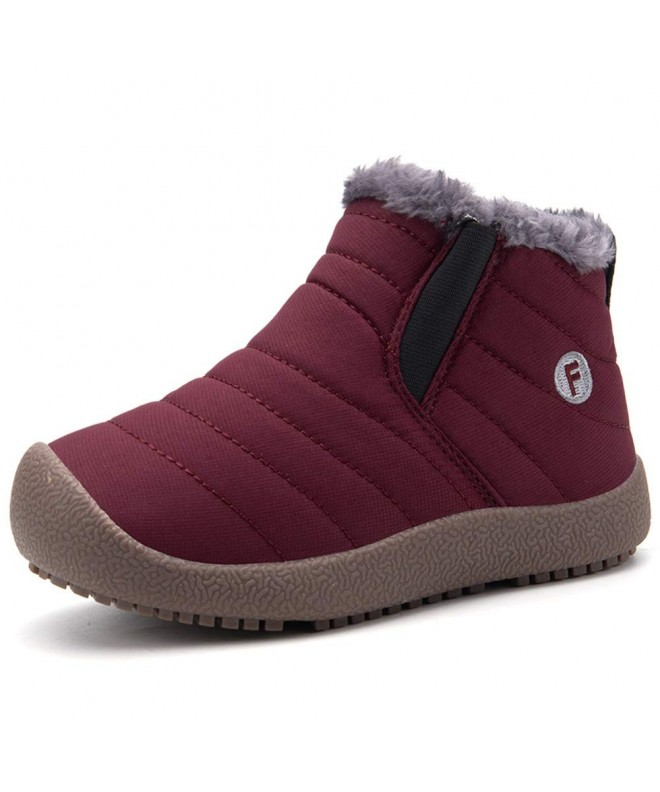 EQUICK Girls Winter Outdoor Boots T wine 35