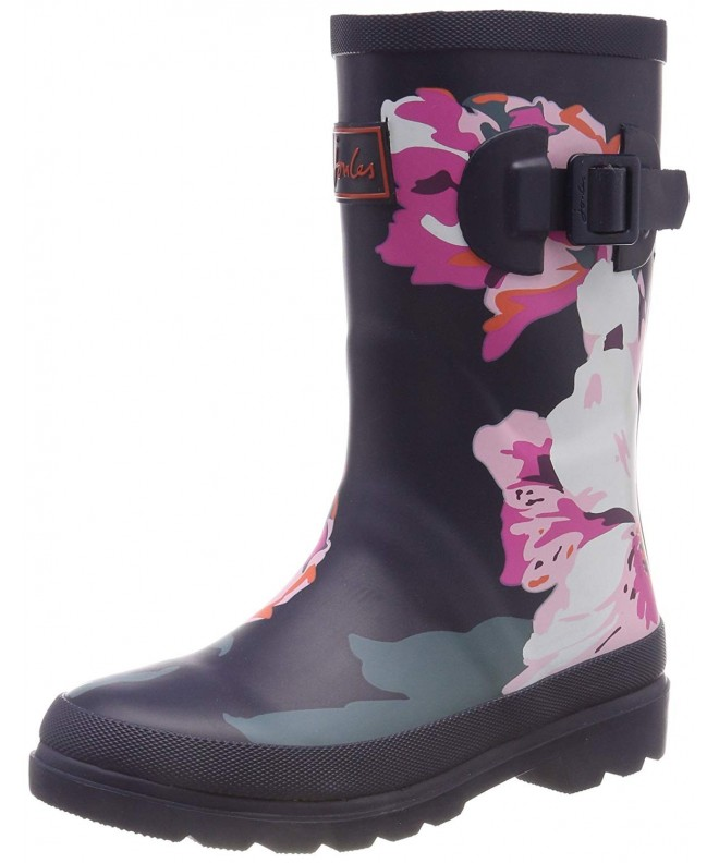 Grey Painted Floral 10 M US Toddler Toddler//Little Kid//Big Kid Joules Kids Baby Girls Printed Welly Rain Boot
