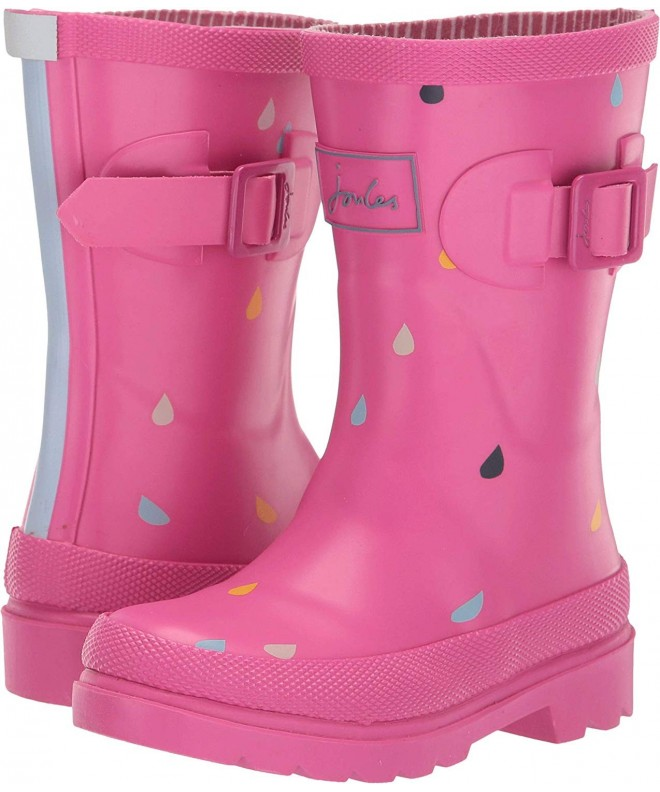 SIYA Toddler and Youth Girls Light-Up Butterfly Peace Sign and Flower Design Pink Rain Boot Snow Boot