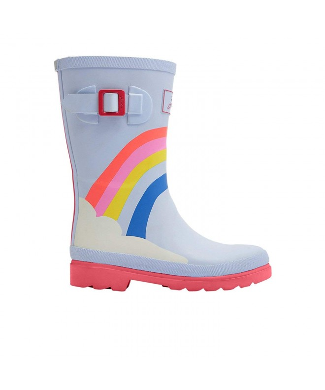 Baby Girl's Printed Welly Rain Boot (ToddlerLittle KidBig Kid) Blue Rainbow 3 M US Little Kid CR18ELQM0CN