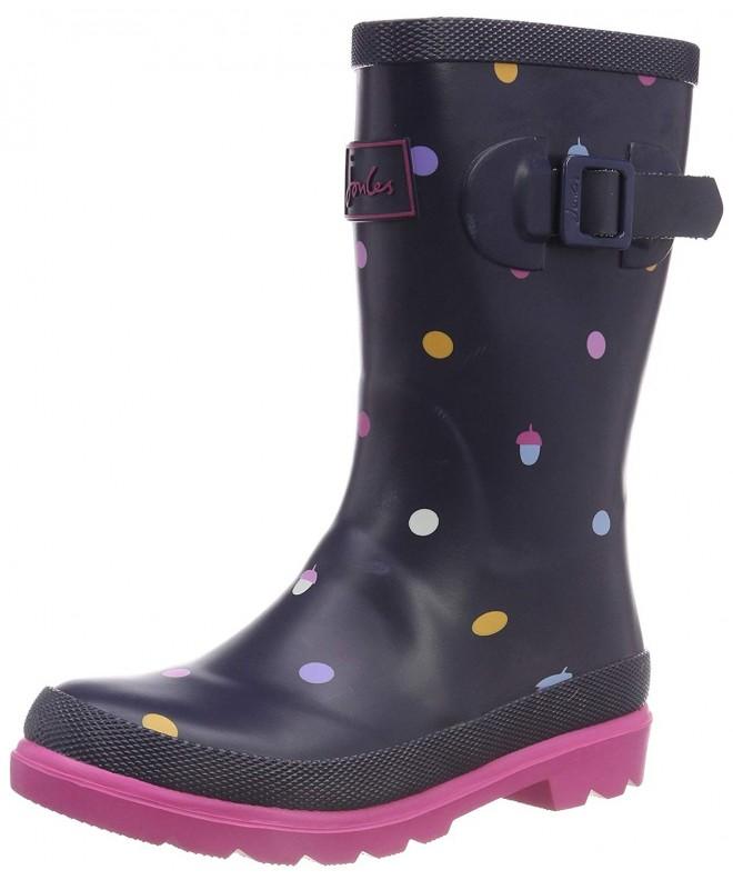 Baby Girl's Printed Welly Rain Boot (ToddlerLittle KidBig Kid) Navy Acorn Dot 11 M US Little Kid M CA188A00OOA