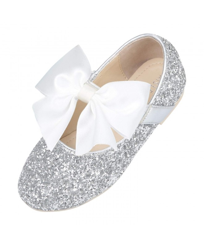 Simply Petals Girls Cobra PU Slip On Ballet Flats
