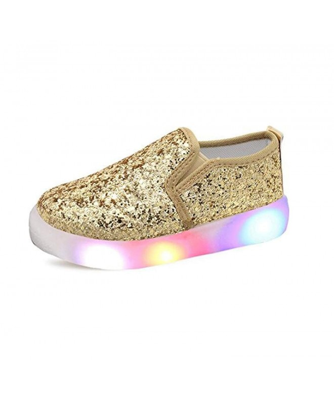 USANDY Sequins Flashing Loafers Sneakers