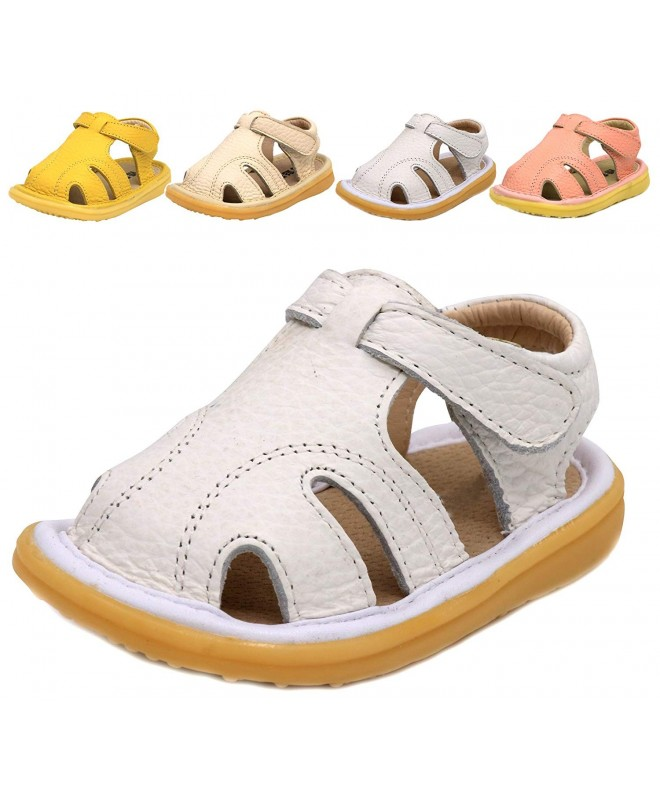 LONSOEN Toddler Outdoor Closed Toe Leather