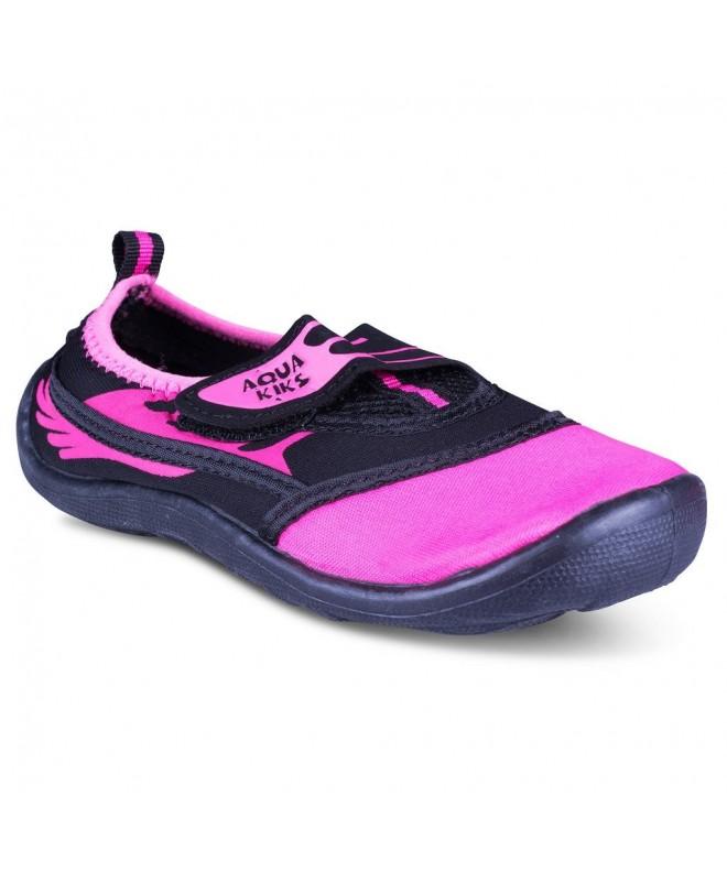 984bbbdb4ebba Water Aqua Shoes for Boys & Girls - Kids Waterproof Sandals - Black/Pink -  CG12NSE3Z6B