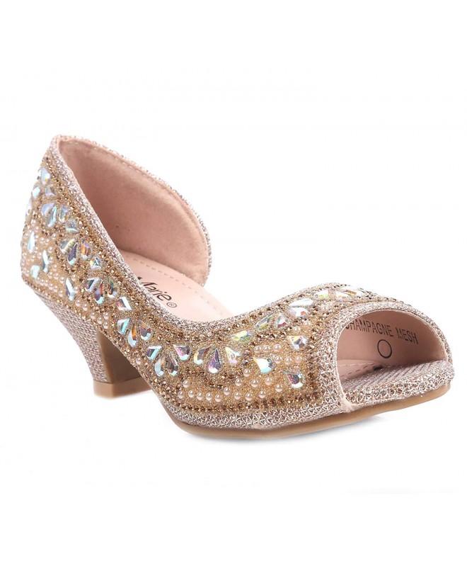 Fashion Rhinestones Blink Kitten Sandals