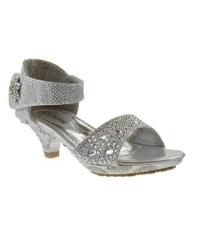 Lucita Little Rhinestone Platform Sandals
