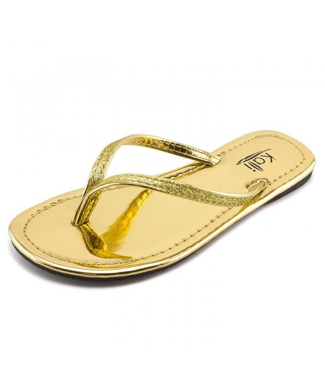 Kali Footwear Patent Glitter Sandals