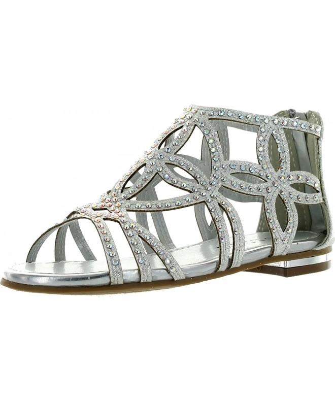 Girls Rhinestone Gladiator Strappy Sandals