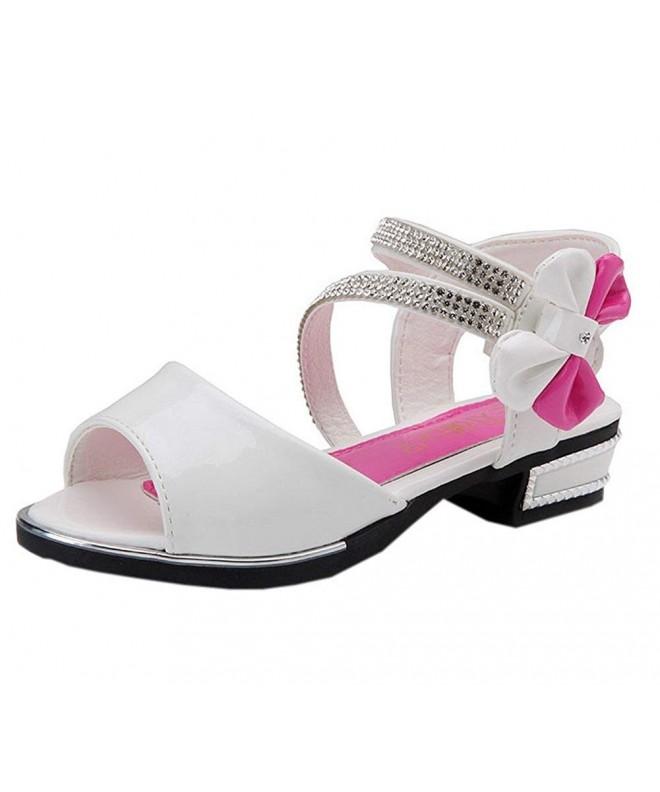 Vokamara Patent Leather Rhinestone Sandals