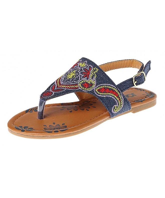 Josmo T Strap Glitter Sandals Little
