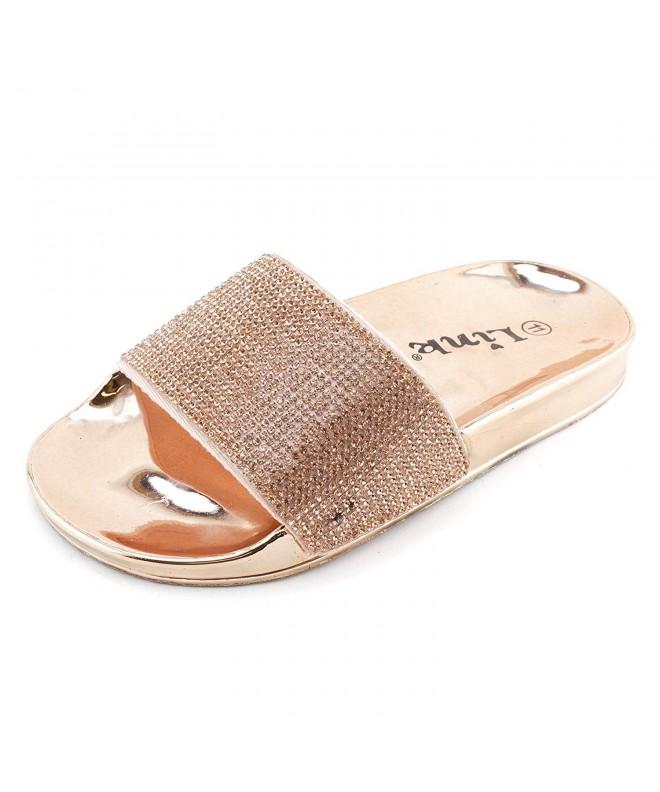 Link Stun 02K Rhinestone Single Sandals
