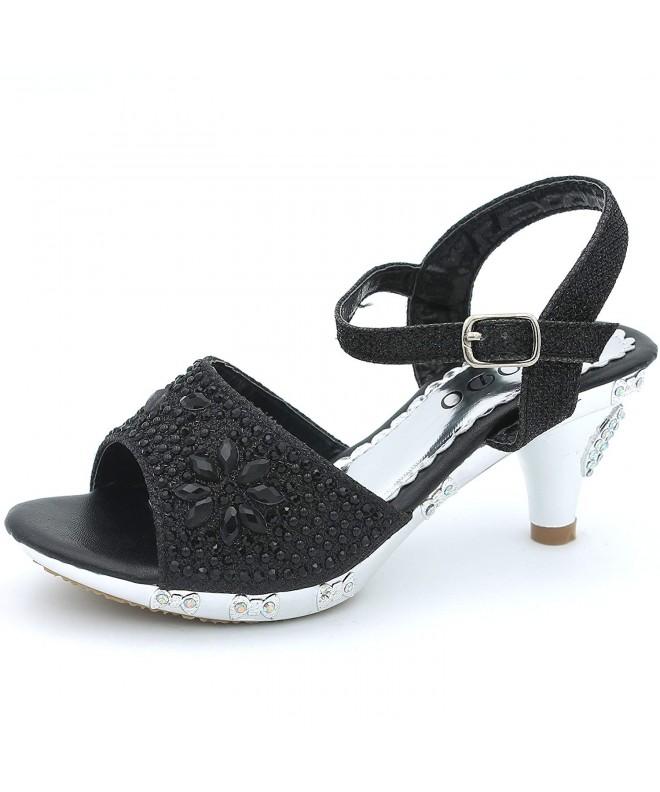 CAKI Sandals Toddler Glittery Rhinestone