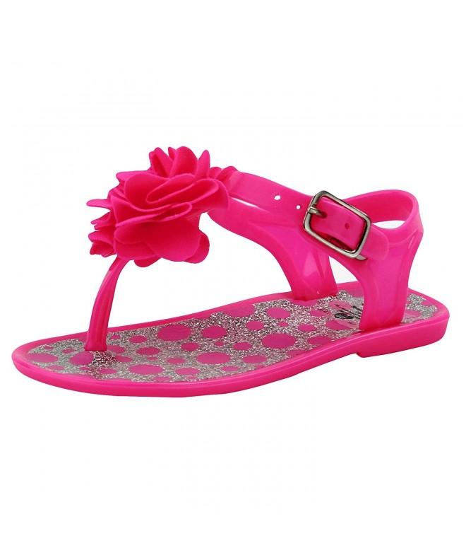 Stepping Stones Sandals Glitter Flower