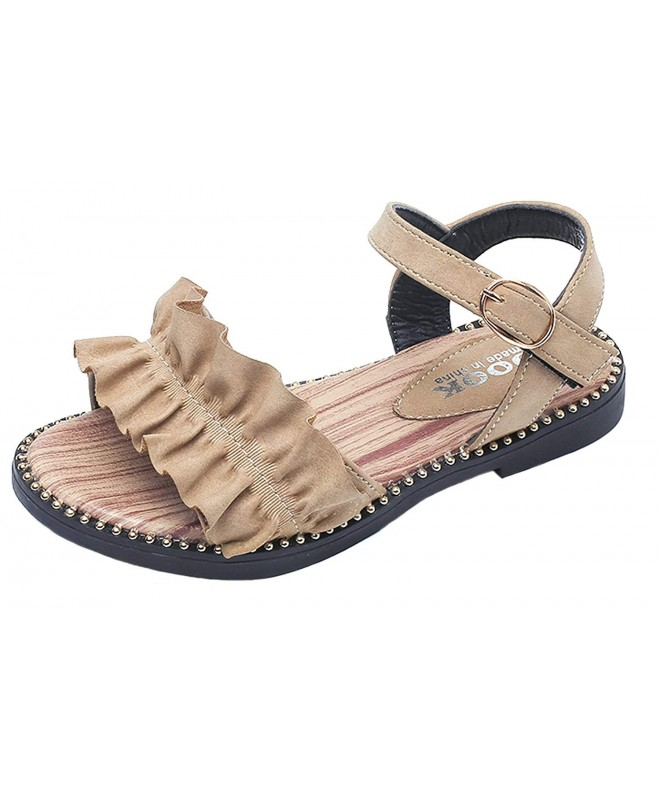 WUIWUIYU Leather Walking Sandals Princess