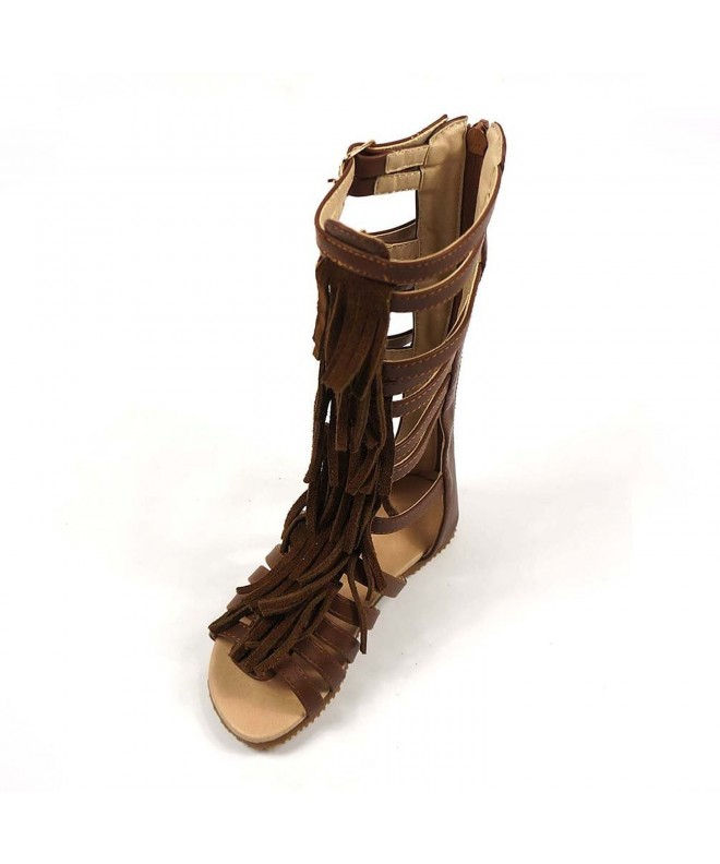 D LIN Genuine Leather Gladiator Sandals