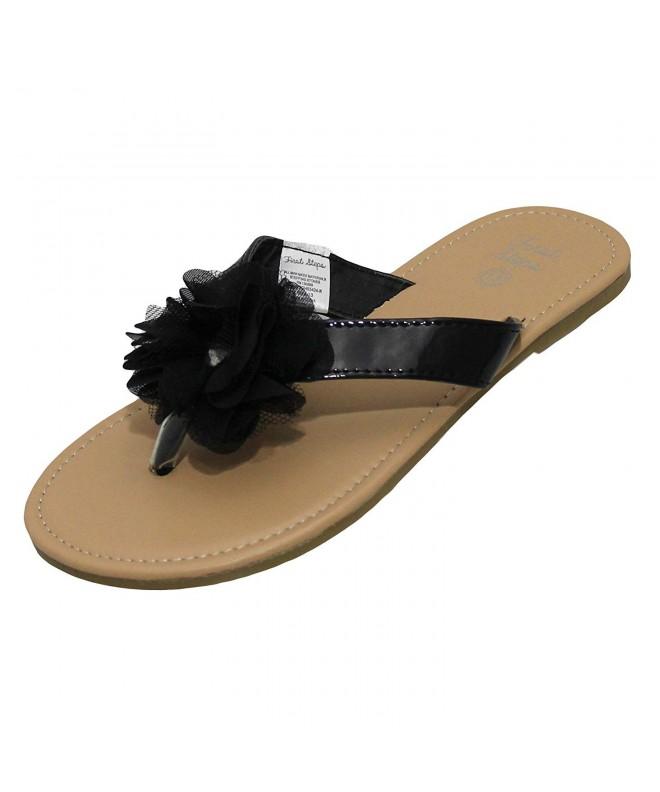 Stepping Stones Sandals Chiffon Ruffle