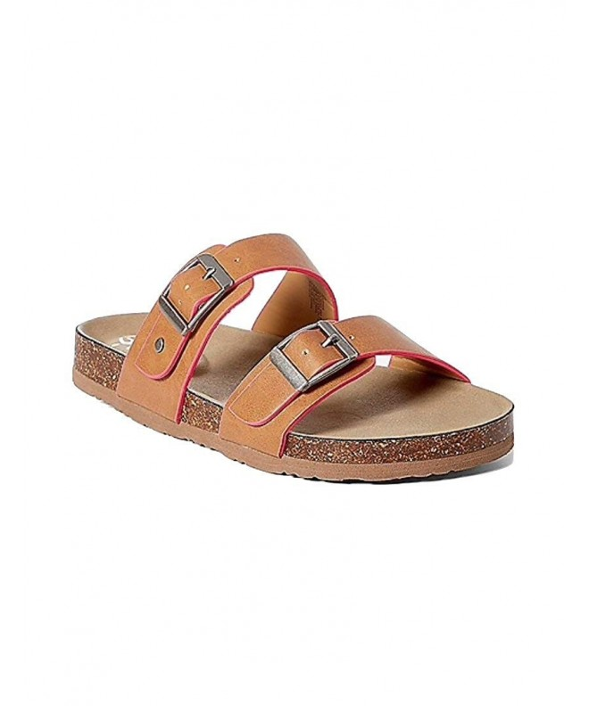 Justice Sandals Double Buckle Oatmilk