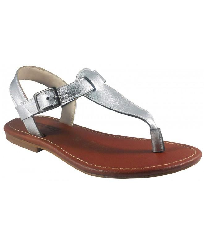 Bobblekids Little Silver Sandal Leather