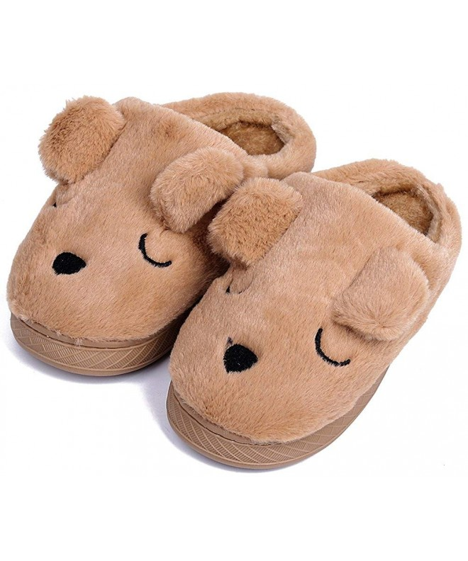 UIESUN Unisex Doggy Toddler Slippers