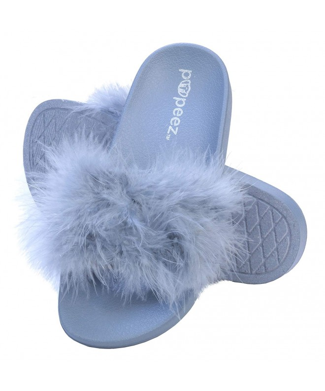 Pupeez Girls Open Slide Slippers