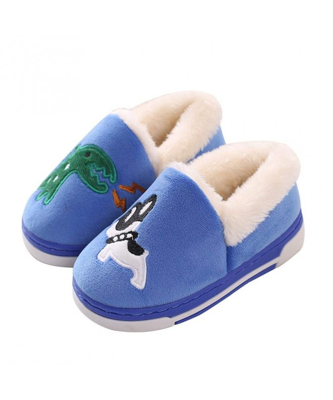 Dinosaur Slippers Toddlers Cartoon Booties Blue