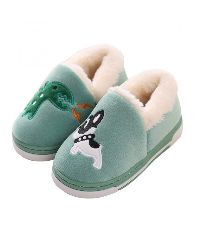 Dinosaur Slippers Toddlers Cartoon Booties Green