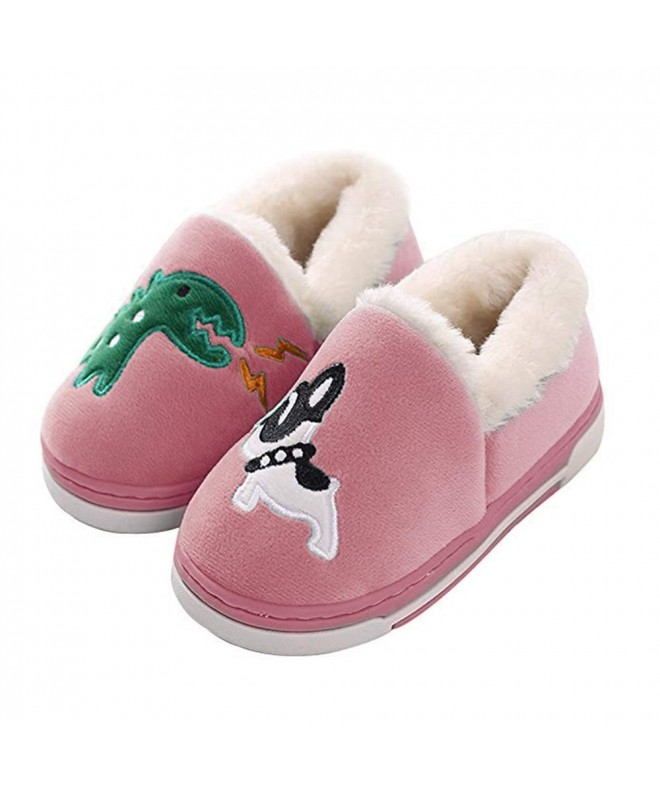 Dinosaur Slippers Toddlers Cartoon Booties Pink