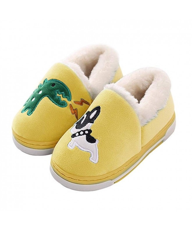 Dinosaur Slippers Toddlers Cartoon Booties Yellow