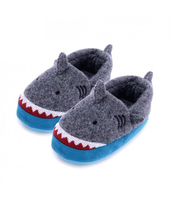 House Slipper Shark Cartoon Winter